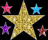 star goldenstar gold glitter stars