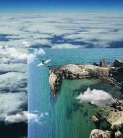 freetoedit surreality editing sea clouds