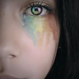 tumblr rainbow beatiful eyesrainbow arcoiris freetoedit