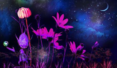 freetoedit fae remixed nightscape purple