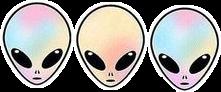 alien sticker tumblr freetoedit