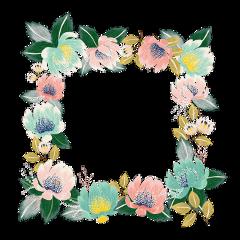 ftestickers genfest summer frame flower