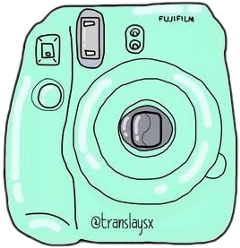 polaroid green camera pastel bynisha