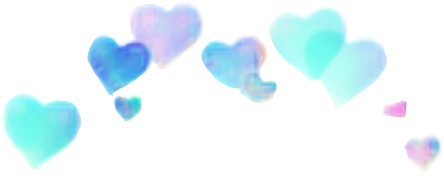 corona corazones blue azul heart