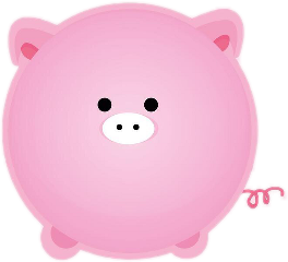 freetoedit cute cartoon pig piggie