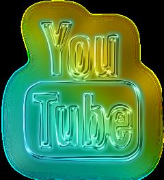youtube music socialmedia neon glowing