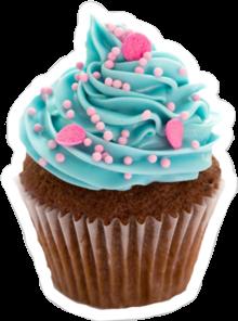 food blue cupcake freetoedit