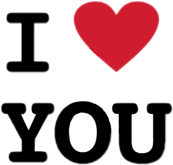 #iloveyou #black #red #letters #ftestickers