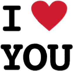 iloveyou black red letters ftestickers freetoedit