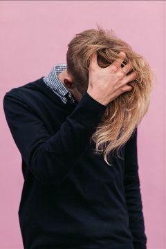 freetoedit boy minimal pink hair