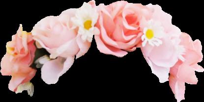 pink flower rose flowercrown snapchat
