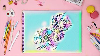 freetoedit rainbowmagiceffect coloringbook