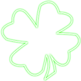 clover green snapchat neon sign