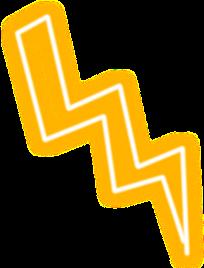 lightning yellow thunder bolt snapchat
