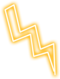 lightning yellow thunder bolt snapchat freetoedit