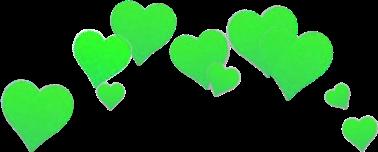 green crown heart snapchat freetoedit