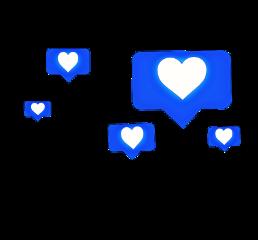 ftestickers likes instagram blue freetoedit
