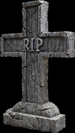 rip tombstone dead death cross