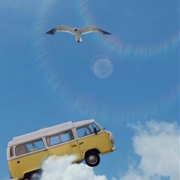 freetoedit sky car sun bird