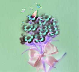 freetoedit clone bow butterflies negative