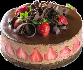 cake chocolate strawberry chocostrawberrycake sticker