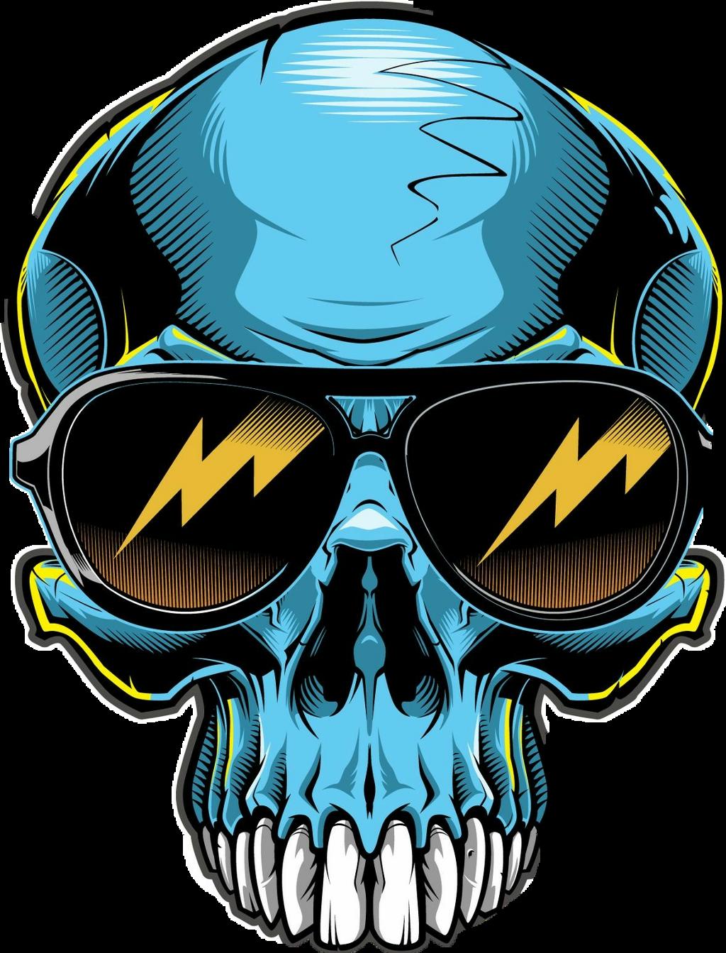 Skull Motorcycle Helmet Stickers