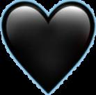 heart emoji black emojisticker freetoedit