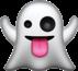 crazy ghost emoji freetoedit