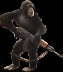 triggered chimpanzee gun freetoedit