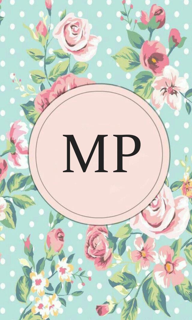 #monogram #wallpaper #flowers