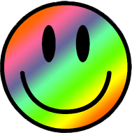 smile rainbow psychedelic trippy smiley