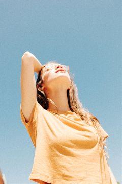 freetoedit girl people sky sunshine