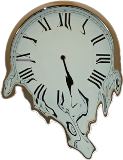 ftestickers clock meltingclock freetoedit
