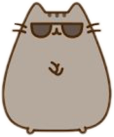 gangnamstyle pusheen cat cool glasses