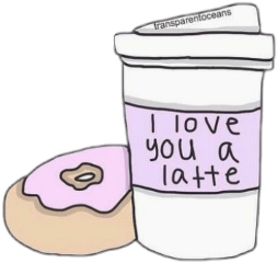 freetoedit latte donut aesthetic tumblr