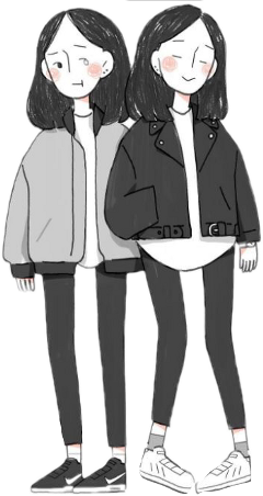 overlay girls friends tumblr black