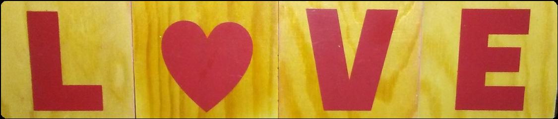 l❤ve heart word blocks love