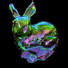 rabbit transparent holographic ftestickers freetoedit