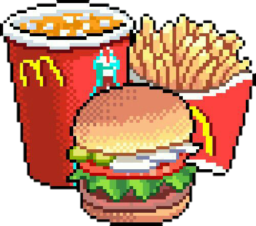 Mcdonald Mcdonalds Food Fastfood Pixel Chips Hamburguer