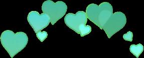 coronadecorazones corazon corazones picsart calcomania