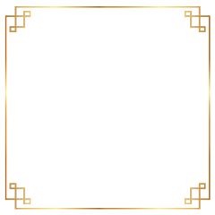 frame border gold chinese asian