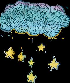 ftestickers freestickers cloud star pattern