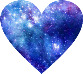 galaxy stars heart space love