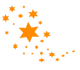 ftestickers stars orange stardust