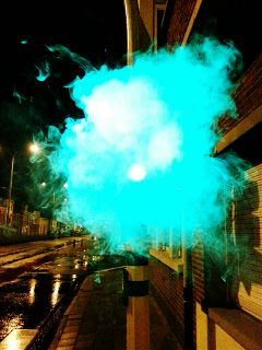 night streets smoke green freetoedit