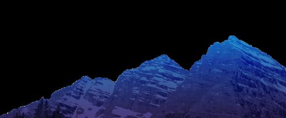 ftestickers rocks mountain aesthetic blue
