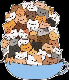 kawaii cute cats freetoedit