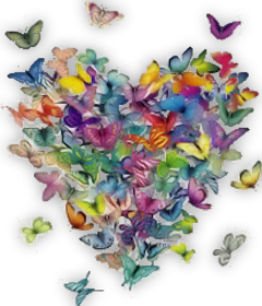 heart butterfly colorful love freetoedit