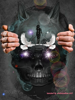 freetoedit peacedoves wolfspiritguide remixed berniewilson