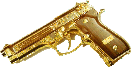 gold gun tumblr rich money